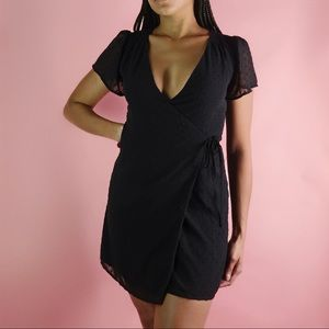 Forever 21 Small Black Wrap Dress